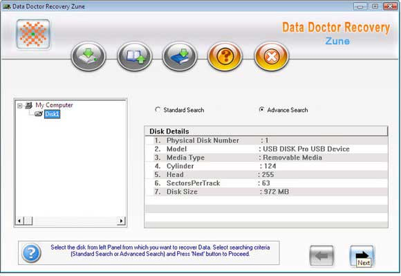 Zune digital audio video music recovery tool